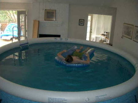 Living room pool
